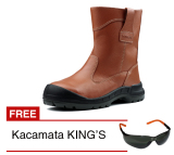 Beli King S Kwd 805 Cx Sepatu Safety Cokelat Gratis Kacamata Safety King S King S Murah