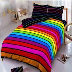 Kintakun Dluxe Bedcover King Motif Rainbow 180x200 cm