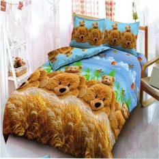 Jual Kintakun Dluxe Sprei King Motif Golden Bear 180X200 Cm Termurah