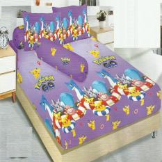 Harga Kintakun Dluxe Sprei King Motif Pikachu 180X200 Cm Termurah