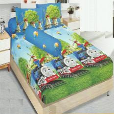 Kintakun Dluxe Sprei King Motif Thomas Train 180X200 Cm Asli