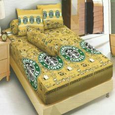 Harga Kintakun Dluxe Sprei Single Motif Starbucks Coffee 120X200 Cm Satu Set