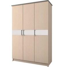 Spesifikasi Kirana Lemari Pakaian 3 Pintu Lp 3 Pt Manhattan White Oak Terbaru