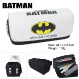 Spesifikasi Kisnow Anime Multifungsi Double Zipper Kanvas Pensil Tas Tas Dompet Kotak Pensil Warna Batman Intl Batman