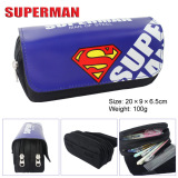 Spek Kisnow Anime Multifunctional Double Zipper Canvas Pencil Bag Handbag Purses Pencil Boxes Color Superman Intl Superman