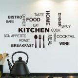 Daftar Harga Dapur Kata Bahasa Inggris Dan Mengutip Wall Sticker Hitam Oem