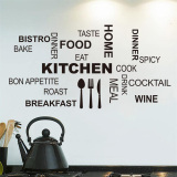 Promo Toko Dapur Kata Bahasa Inggris Dan Mengutip Wall Sticker Hitam