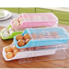 Dapur Rumah Kulkas Penyimpanan Plastik Laci Jenis Egg Holder Box Container Dispenser Case-Intl