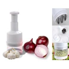 Review Toko Kitchen Onion Chopper Hand Pressure Penumbuk Bawang White