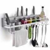 Promo Kitchen Rack Tools Rak Dinding Dapur Aluminium Multifungsi Tempat Bumbu Alat Masak Pisau Sendok Garpu Multi Purpose