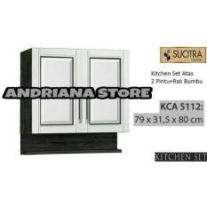 Kitchen Set / Lemari Gantung Dapur Sucitra 2 Pintu Rak Bumbu FREE ONGKIR DAN PASANG JABODETABEK