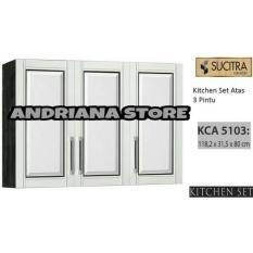 Kitchen Set / Lemari Gantung Dapur Sucitra 3 Pintu FREE ONGKIR DAN PASANG JABODETABEK