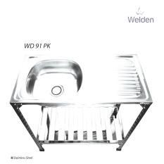Kitchen Sink  - Bak Cuci Piring Kaki Meja Rak Portable Welden 91Pk - Xrz96z