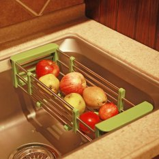 Beli Kitchen Srorage Creative Stainless Steel Kitchen Drain Basket Frame Telescopic Chopsticks Sink Drainboard Intl Yang Bagus