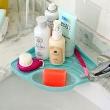 Ulasan Lengkap Tentang Alat Dapur Sink Corner Storage Rack Sponge Holder Wall Mounted Suction Cup Biru Kecil