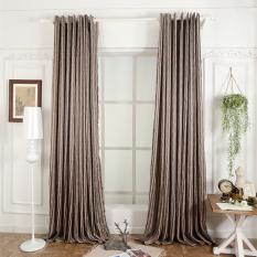 Dapur Hiasan Jendela 3D Murah Modern Ruang Tamu Pendek Curtain Ready Made Brown Napearl Murah Di Tiongkok