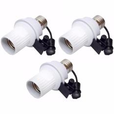 Klickshop Paket 3 Buah Fitting Lampu Sensor Cahaya Otomatis - Putih