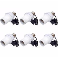 Klickshop Paket 6 Buah Fitting Lampu Sensor Cahaya Otomatis - Putih