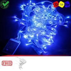 Klik 100 Lampu Hias LED 10 Meter Dekorasi Festival Waterproof Free Colokan Listrik Sambungan