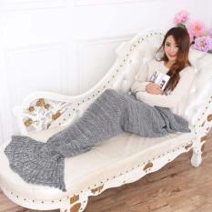 Rajutan Selimut Ekor Putri Duyung Handmade Crochet Dewasa Bungkus Tas Tidur GY-Intl
