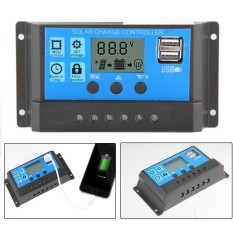 Kobwa 10A Solar Charger Controller Panel Surya Baterai Cerdas Regulator dengan USB Port Display 12 V/24 V- INTL
