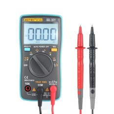 Kobwa ZT102 True RMS Multifunctional LCD Digital Multimeter DMM DC AC Voltage Current Resistance Diode Capacitance Temperature Tester Measurement Automatic Polarity Identification Ammeter Voltmeter Ohm - intl