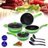 Spesifikasi Ecomax Wien 9In1 Cookware Panset Hijau Ecomax