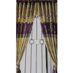 Harga Kong Gorden Murah Batik Ungu 12 Lubang 1 Meter 1 Lembar Tanpa Tali Dan Spesifikasinya