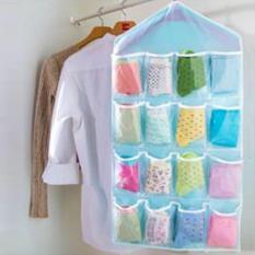 Korean Underwear Pouch - Sekat Korea Untuk Tempat Penyimpanan Pakaian Dalam 16 Sekat Transparan