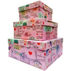 Jual Kotak Kado Kiky Four Shape Box 3In1 Magic Box High Quality Paris Branded Murah