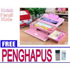 Jual Beli Kotak Pensil Tempat Pensil Kode Karakter Cewek Gambar Random Free 2 Buah Penghapus Joyko Kecil