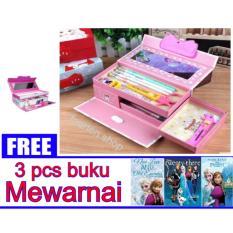 Jual Kotak Pensil Tempat Pensil Kode Karakter Cewek Gambar Random Free 3 Pcs Buku Mewarnai Gambar Random Satu Set