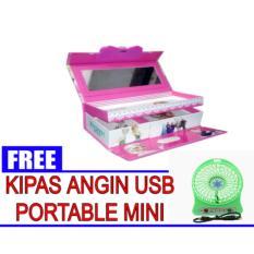 Kotak Pensil/ Tempat Pensil Kode Karakter Cewek ( Gambar Random ) + FREE Kipas Angin USB Mini Portable  ( Warna Random )