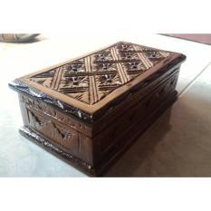 Spesifikasi Kotak Perhiasan Kayu Jati Ukir Cantik Tempat Anting Suweng Gelang Dll Lengkap