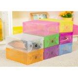 Review Kotak Sepatu Shoes Box Transparan Warna Warni Set Isi 8 Buah Rak Sepatu Murah Tempat Sepatu Murah Wadah Penyimpanan Sepatu Kotak Sepatu Murah Rak Sepatu Plastik Rak Sepatu Lipat Multicolour
