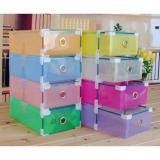 Jual Kotak Sepatu Transparan With Frame Warna Warni 4 Pcs Kotak Transparan Branded