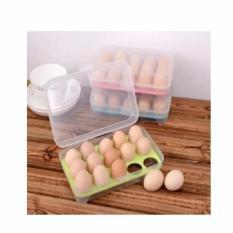Kotak Telur Isi 15 Egg Plastic Wadah Telor Ayam Di Kulkas Alat Simpan Praktis Modern Higienis Murah Cheap Terjangkau Dapur Rumah Tangga Produk Barang China Import Modern Ecer Grosir Partai Retail Seller Reseller Dropship