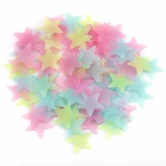 100pcs Stiker Dinding Kreatif - Wall Decals Glow In The Dark - Stars Luminous Fluorescent Wall