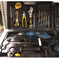 Krisbow Bor Impact 13mm + 26pcs Tools(Mata Bor, Palu, Tang, dll)