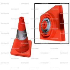 Krisbow Kerucut Tumpeng Foldable Traffic Cone Lipat Emergency Darurat Mobil Parkir Marka Tanda Jalan