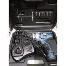 Krisbow Mesin Bor Baterai / Cordless Drill 10mm +Bonus Mata Bor & Screwdriver