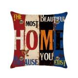 Model Kuhong Retro Linen Cushion Cover Rumah Kantor Sofa Sarung Bantal Persegi Bantal Dekoratif Meliputi Pillowcases H04 Intl Terbaru