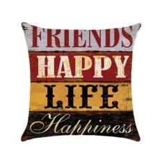 Promo Kuhong Retro Linen Cushion Cover Rumah Kantor Sofa Sarung Bantal Persegi Bantal Dekoratif Meliputi Pillowcases H05 Intl Murah