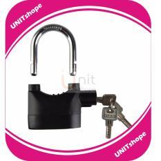 Kunci Gembok Alarm Super Kuat - Lock Kunci Pengaman Rumah Pagar, Motor + Free Baterai Cadangan