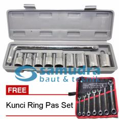 KUNCI SOCK SET 10 PCS & KUNCI RING PAS SET 7 PCS K55 8 - 19 MM
