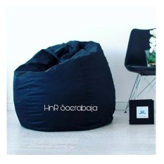 Kursi santai Bean Bag Oval - Biru Navy (Cover only) / kursi pantai / furniture