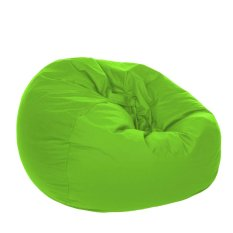Kursi Santai Bean Bag Oval Lime Cover Only Kursi Pantai Furniture Murah