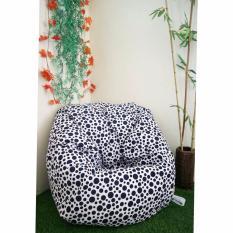 Kursi santai bean bag oval - Motif polkadot (Cover only) / kursi pantai / furniture