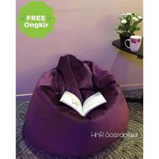 Kursi santai Bean Bag Oval - Plum Purple (Cover only) / bean bag murah / kursi santai