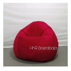 Kursi santai Bean Bag Oval - Red (Cover only) / furniture / kursi pantai